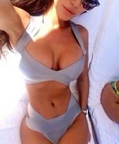 swimwear,swimming,bikini,dress,style,grey,grey swimwear,summer,summer swimwear,fashion,women summer swimwear