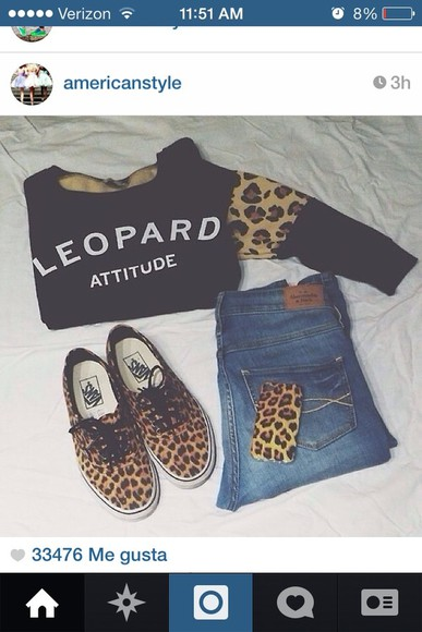 sweater vans leopard print animal print