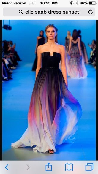 dress ombre elie saab