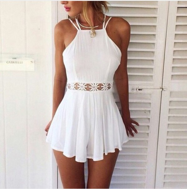 jumpsuit romper beach outfit summer outfits tan beach hot