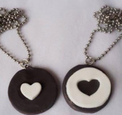 jewels,necklace,oreos,oreo,best friend necklace,bff,bestfriend necklace,heart oreos,bracelets,kawaii,coat