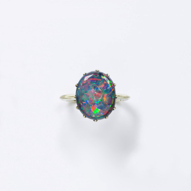 jewels shiny ring holographic hipster