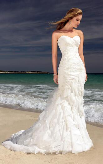 dress beach wedding