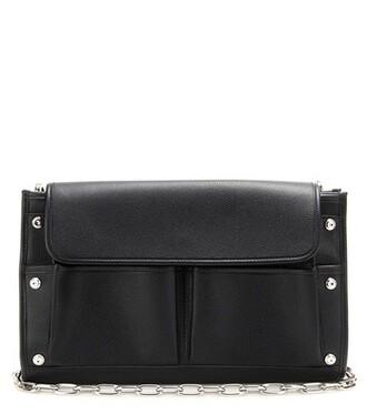 bag clutch shoulder bag leather black