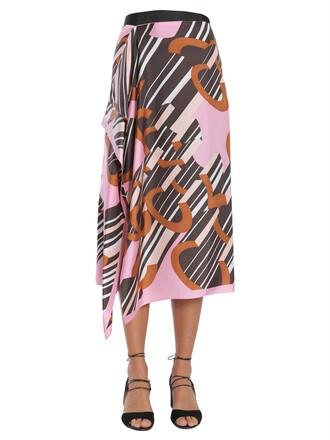 skirt midi silk multicolor