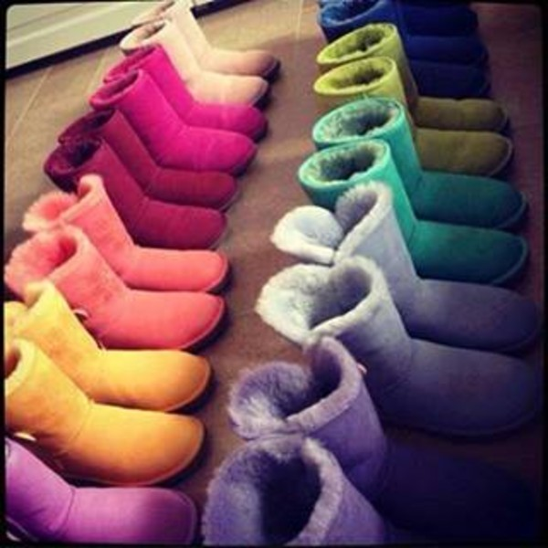 shoes colorful boots ugg boots
