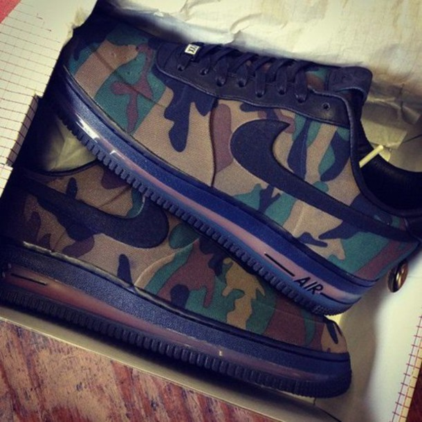 shoes camouflage nike shoes nike nike air force 1 army green