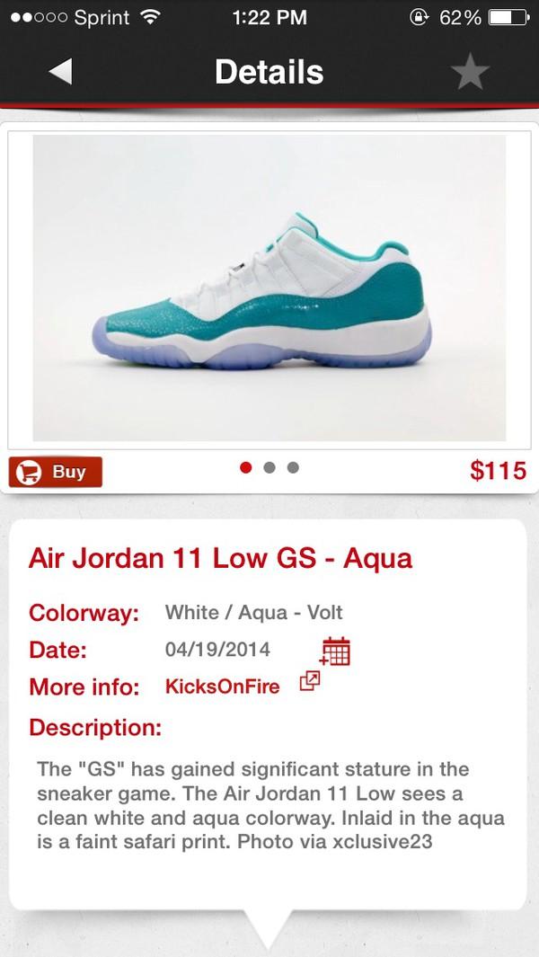 shoes air jordan 11 low gs aqua air jordan
