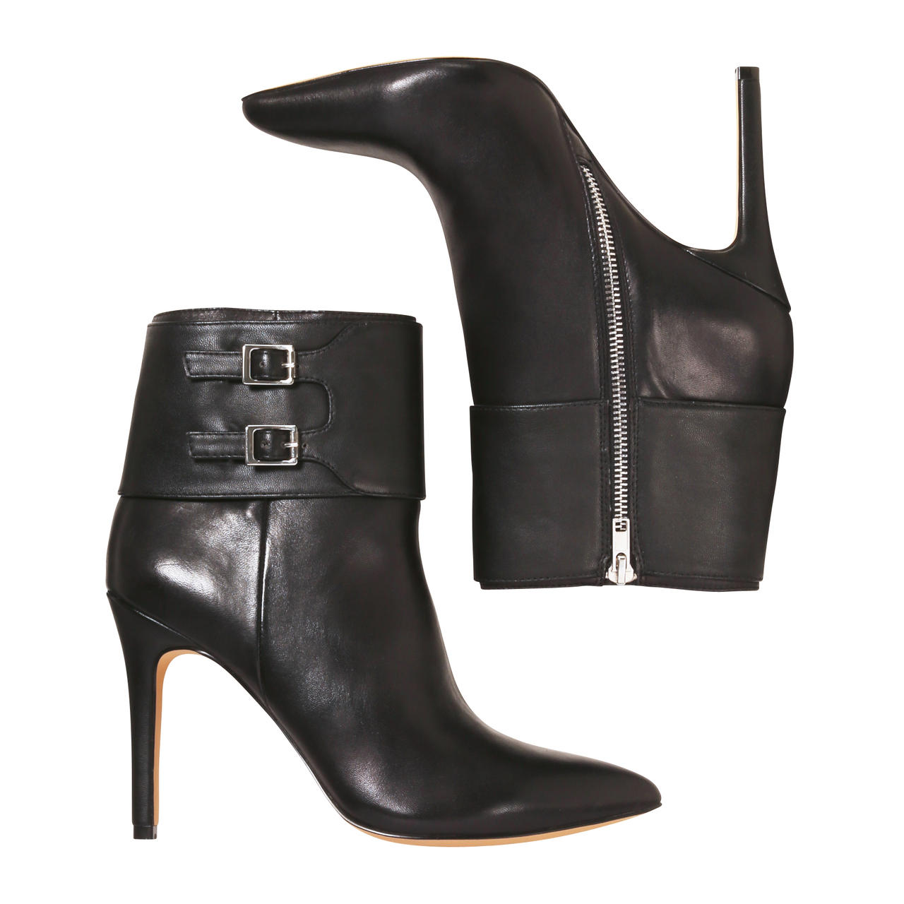 Joe Fresh Leather Buckle Boots