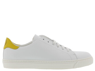 sneakers white yellow shoes