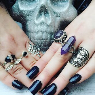 jewels cherry diva knuckle ring ring ring stack gold midi rings silver ring onyx silver jewelry gypsy jewelry boho jewelry bohemian jewelry