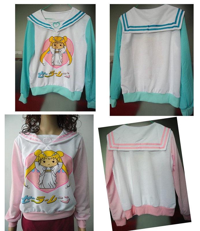 Anime sailor moon harajuku mercur cosplay sweater cute uniform tops new