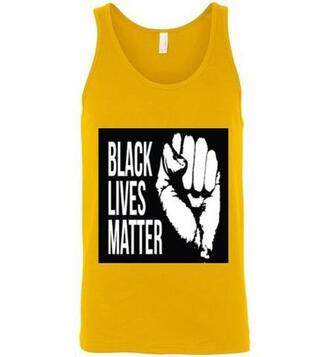 shirt blacklivesmatter tank top yellow top black lives matter