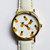 Tropical Fruit Pineapple Watch, Vintage Style Leather Watch, Women Watches, Boyfriend Watch,