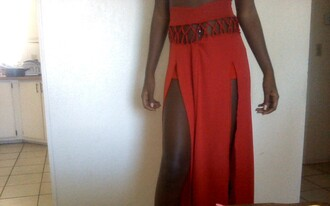 shorts long skirt maxi red double split stretchy party special occasion cut-out side split maxi dress high waisted bikini