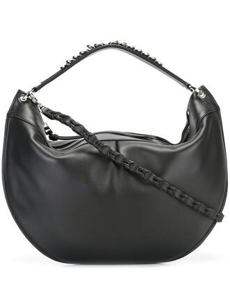 zip bag shoulder bag black