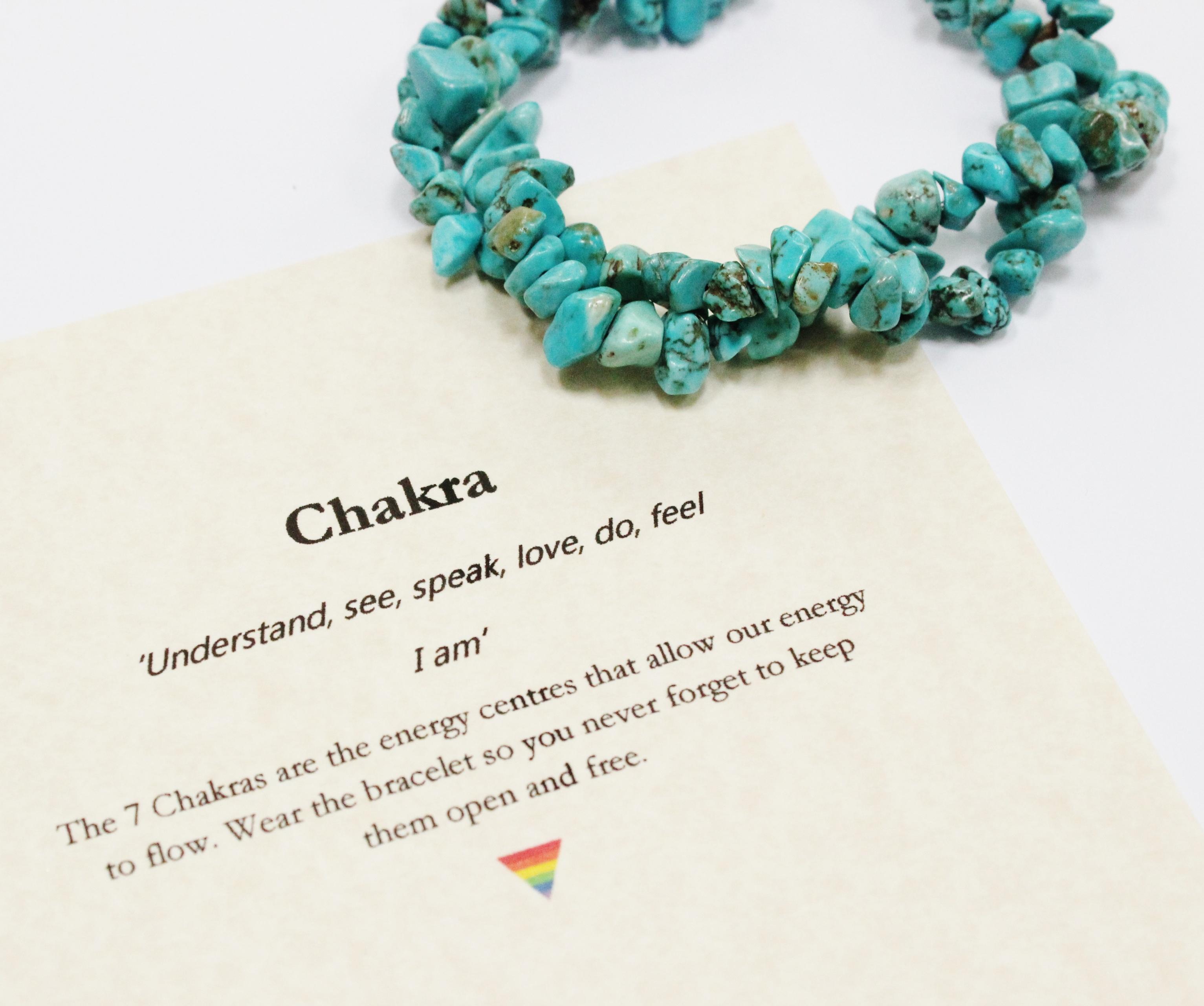 Chakra pyramid bracelet (blue turquoise)
