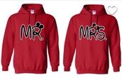 sweater,sweatshirt,mr,mrs,couple,black,red,disney,disney sweater,disney couples sweatshirts