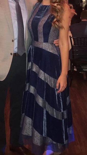 dress navy dress velvet dress