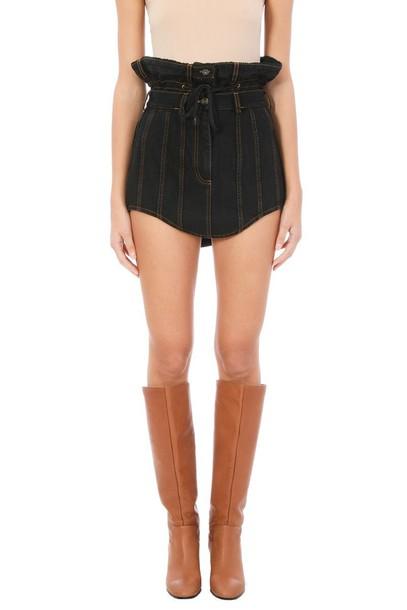 Y-project skirt denim skirt denim black