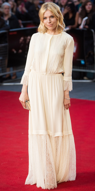 dress boho dress maxi dress sienna miller romantic dress