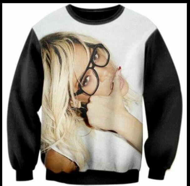 sweater sweatshirt collar swag pullover sweater lipstick