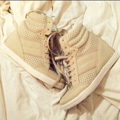 shoes,hidden wedge,laces,tumblr,pretty,beige,wedge sneakers,cute shoes,tall one