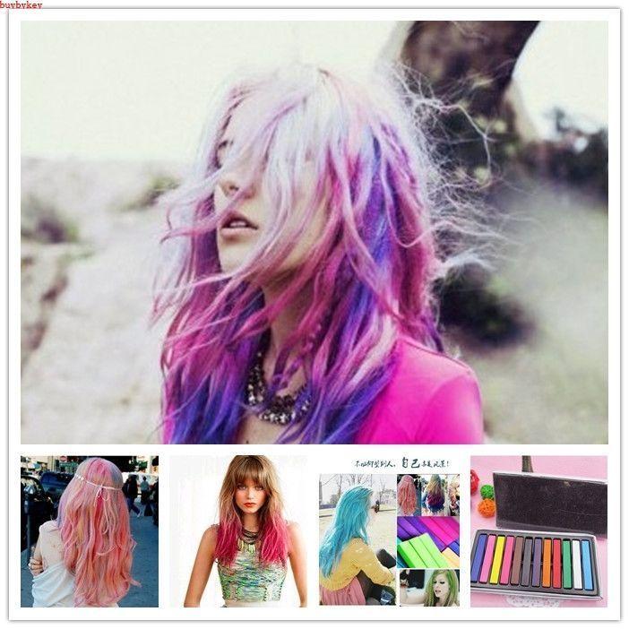 6 farben haar kreide haarfarbe haarkreide färben haartönung stifte diy set ar