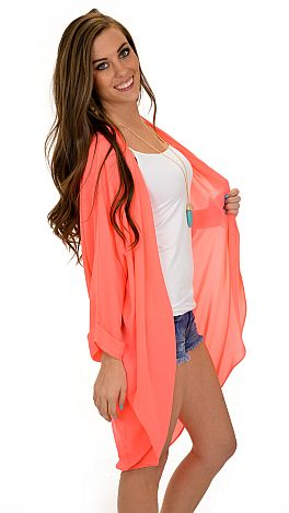 Neon Pleats Cardigan :: NEW ARRIVALS :: The Blue Door Boutique
