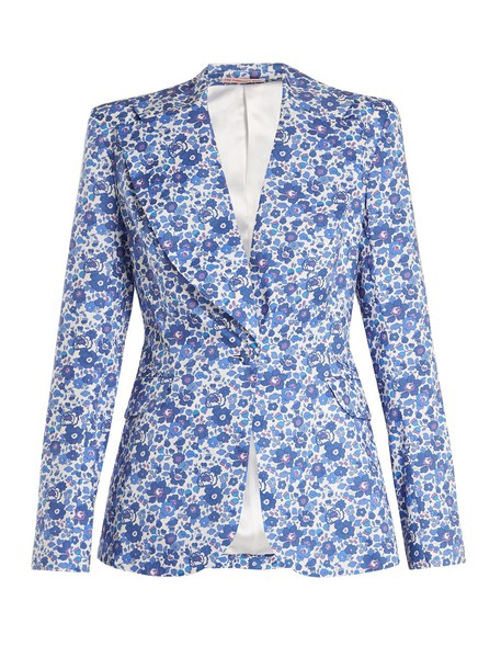 THE VAMPIRE'S WIFE jacket floral liberty print blue