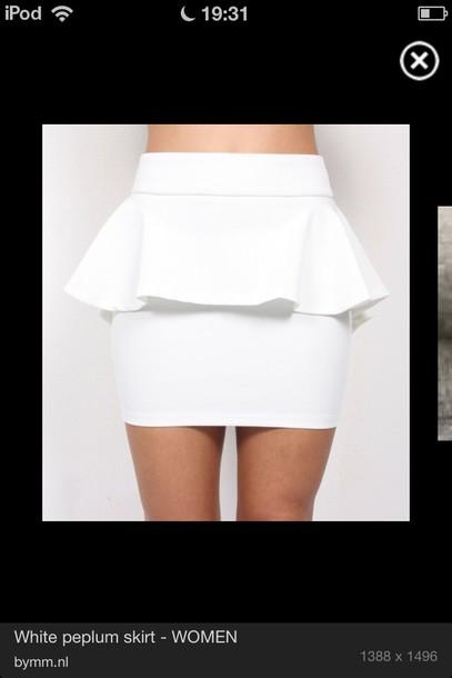 skirt white above knee