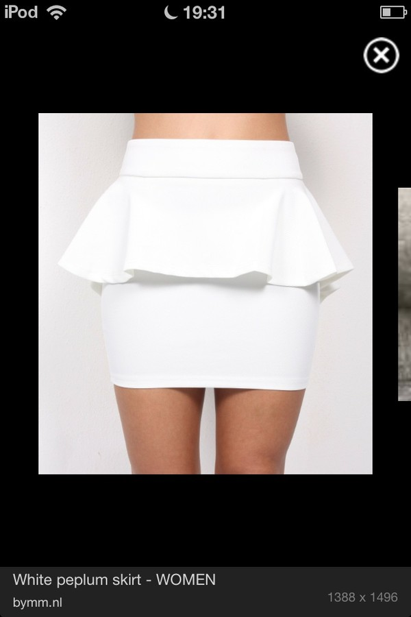 skirt white above knee