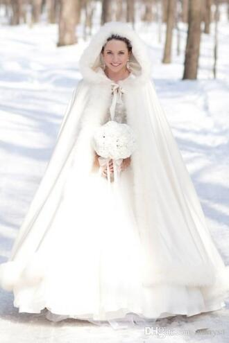 dress white coat wedding dress wedding clothes