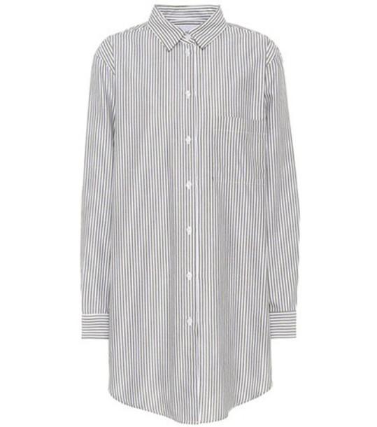 Asceno shirt boyfriend cotton black top
