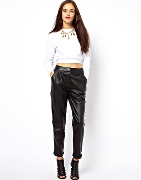 ASOS | ASOS Peg Trouser in Faux Leather at ASOS
