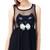Black Mini Dress - Cat Face Bowknot Sheer Black – Club Honorée