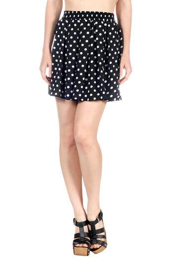 Polkadot mini skirt