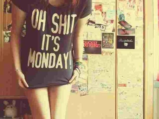 t-shirt t-shirt black monday
