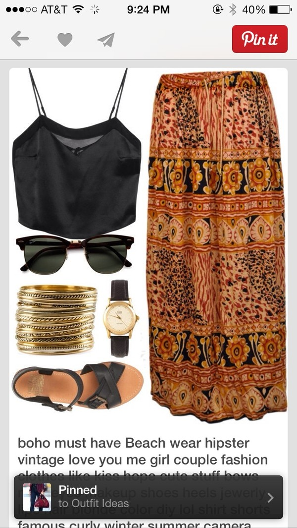 skirt shirt shoes sunglasses jewels