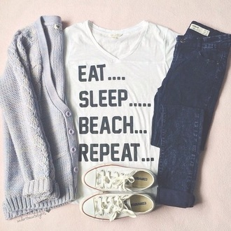 t-shirt sweater jeans