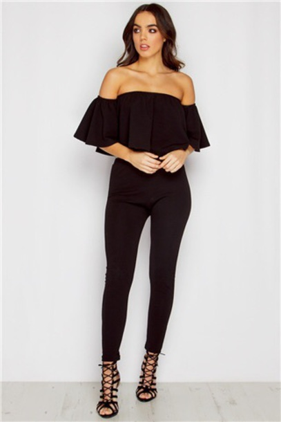 shirt bardot jumpsuit
