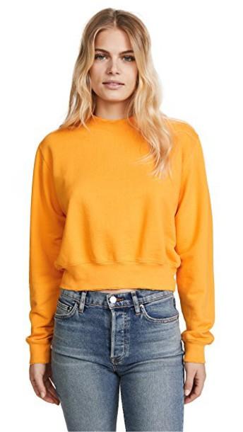 Cotton Citizen sweatshirt cropped yellow sweater