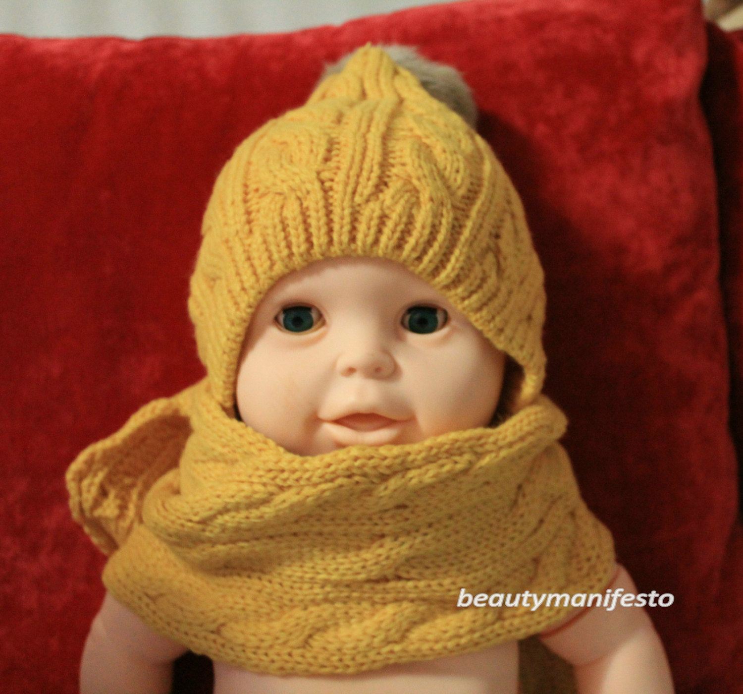 Knit baby hat knit hooded scarf chunky hoodyellow with red knit crochet knit baby hat knit hooded scarf chunky hoodyellow with red knit hoodscarf neckwarmer cowl bankloansurffo Gallery