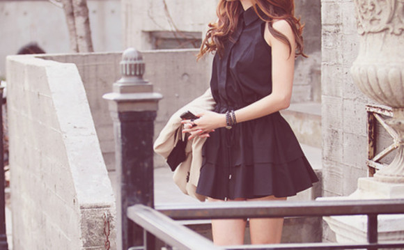 dress cute little black dress peter pan collar