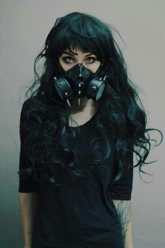 jewels mask goth grunge gaz mask black
