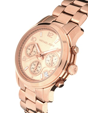 Michael Kors | Michael Kors Rose Gold Plated Chronograph Watch at ASOS