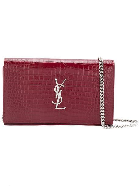 Saint Laurent satchel women classic leather red bag