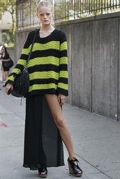 stripes,knitwear,neon,black,sweater
