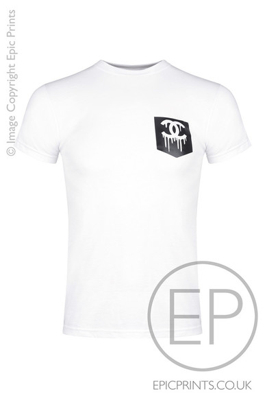 t-shirt chanel cc dripping