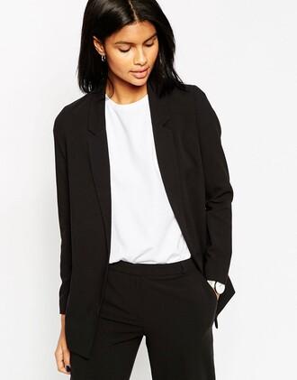 jeans blazer black blazer business casual classic asos